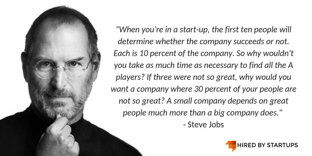 Steve Jon Hiring Quote